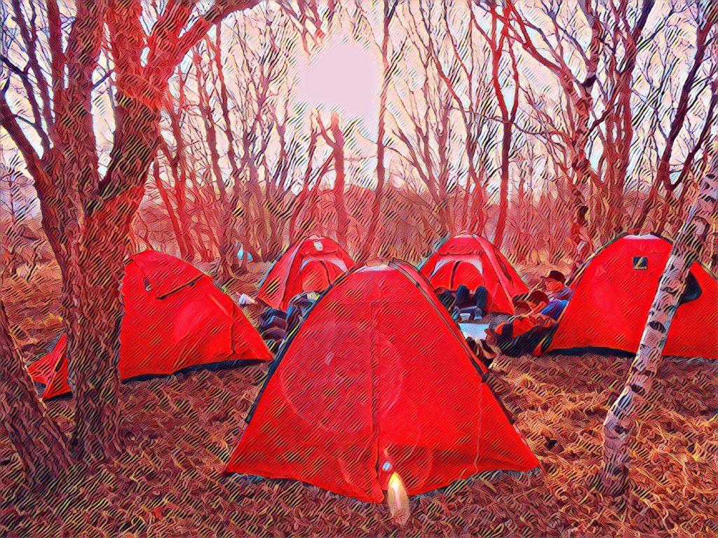 Camping at Baihua Mountain